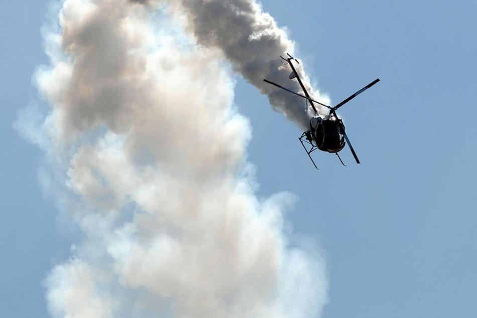 Rund 160 Kilometer vom Ziel entfernt stürzte der Helikopter ab. Es soll keine Überlebende geben. (Symbolbild)