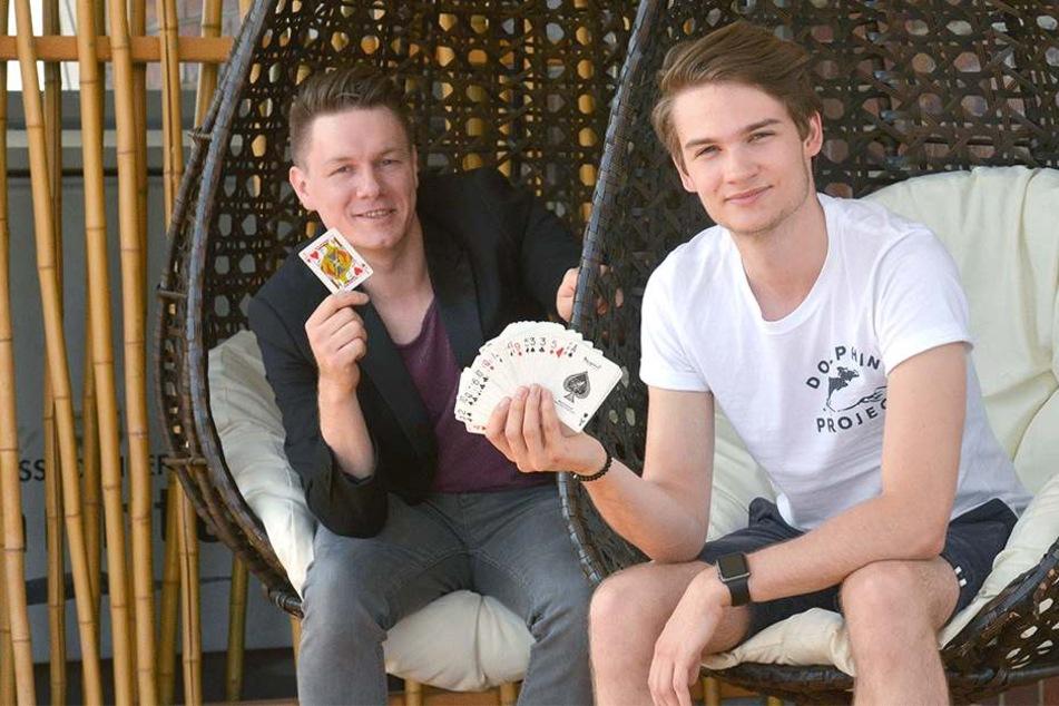 Thomas Majka (30, links) und Vincent Frommer (19).