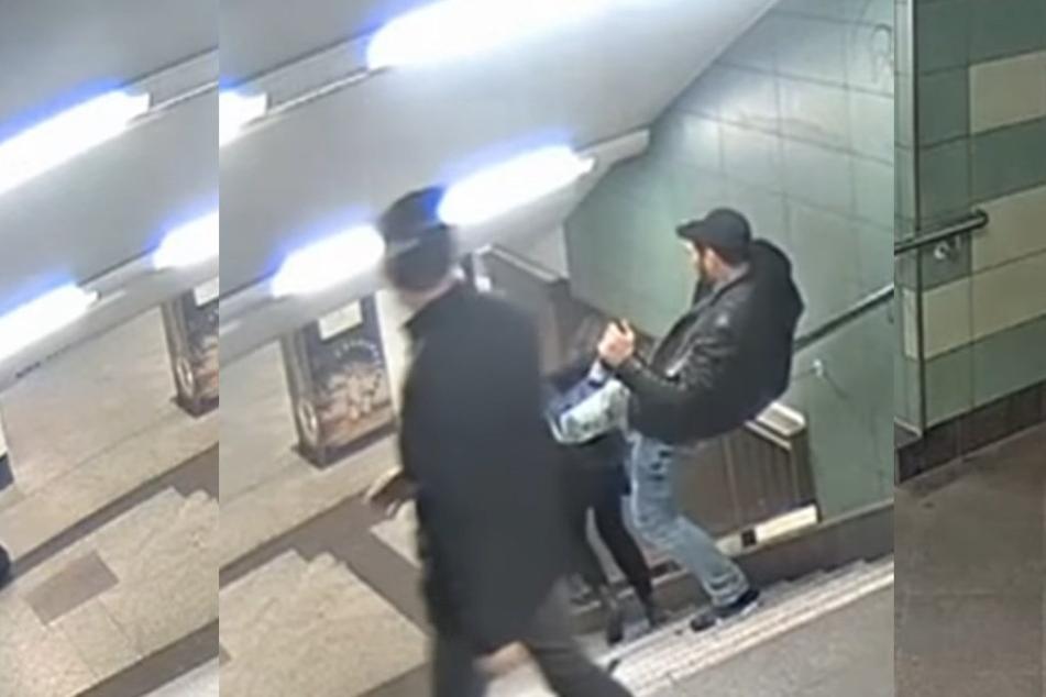 Mit einem brutalen Fußtritt stieß der Mann eine junge Frau die Treppe herunter.