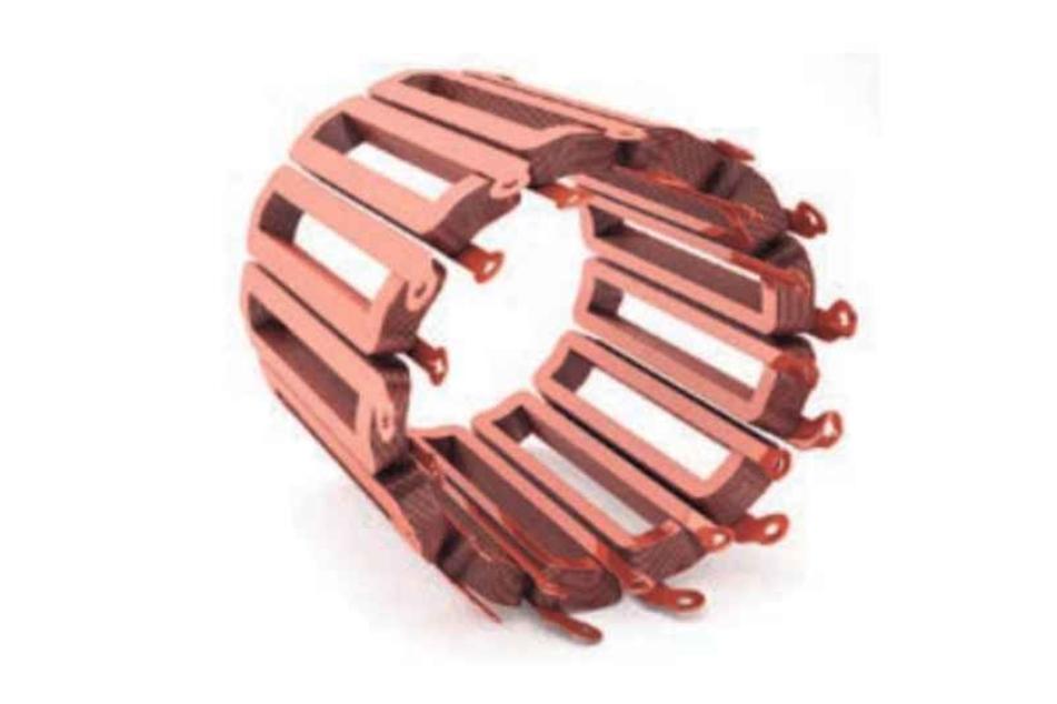 Solche Kupfer-Wicklungen stellen die Freiberger am 3-D-Drucker her.