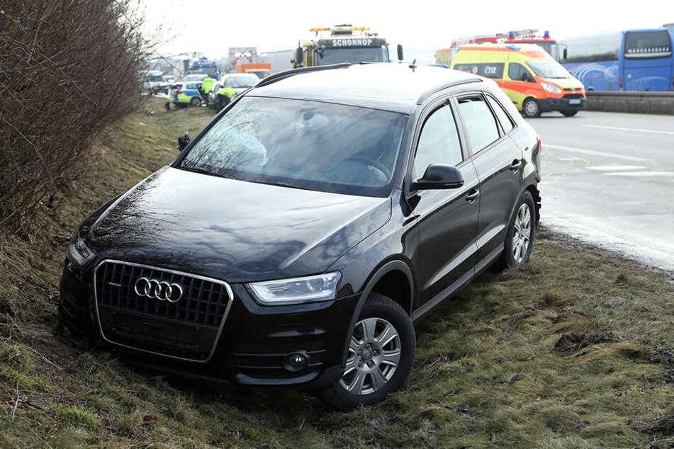 Moderne Sicherheits- und Fahrassistenzsysteme wie bei diesem auf der A14 verunglückten Audi sorgen dafür, dass es bei Unfällen weniger Tote und Verletzte gibt.