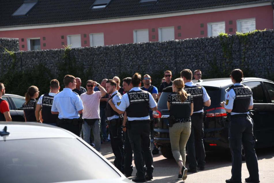 Die Polizei war mit über 100 Beamten im Einsatz.