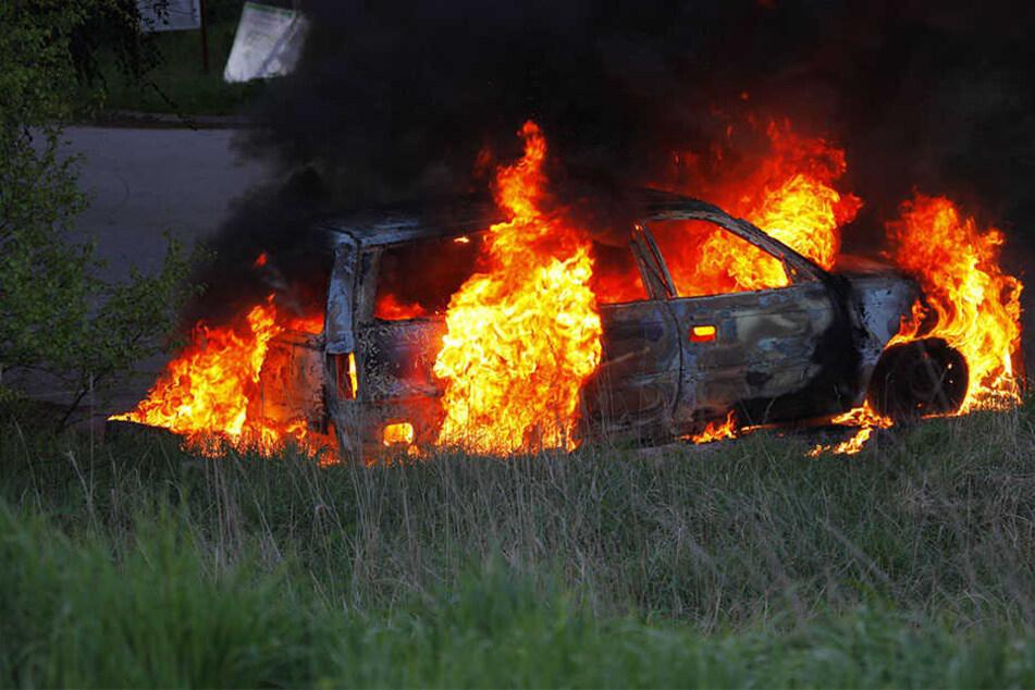 Die Anwohner der Straße in Wüsten haben den 25-Jährigen aus seinem Auto gerettet. (Symbolbild)