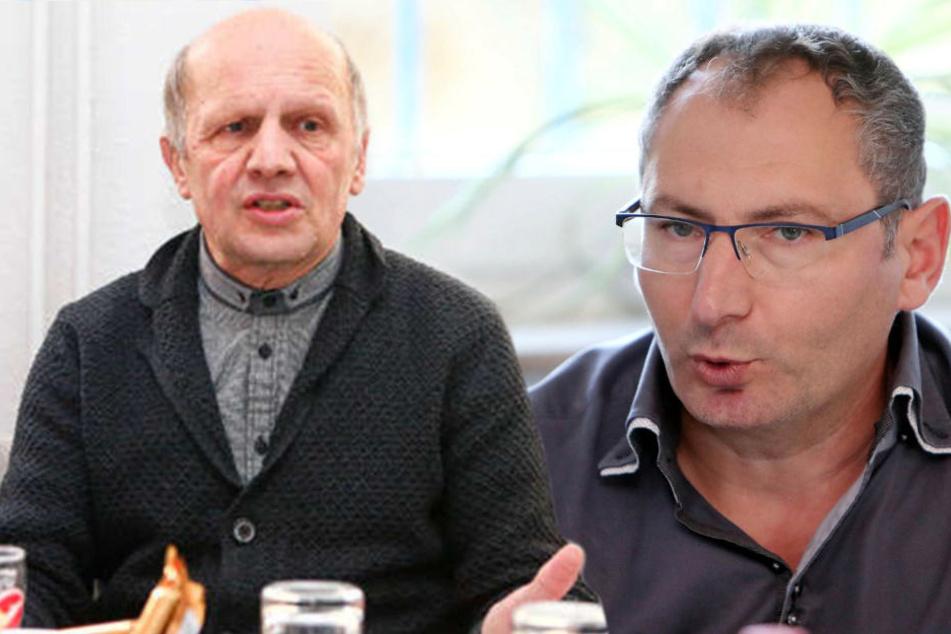 Werden in diesem Leben wohl keine Freunde mehr: Ex-Manager Wolf-Rüdiger Ziegenbalg (l.) und Lok-Präsident Thomas Löwe.