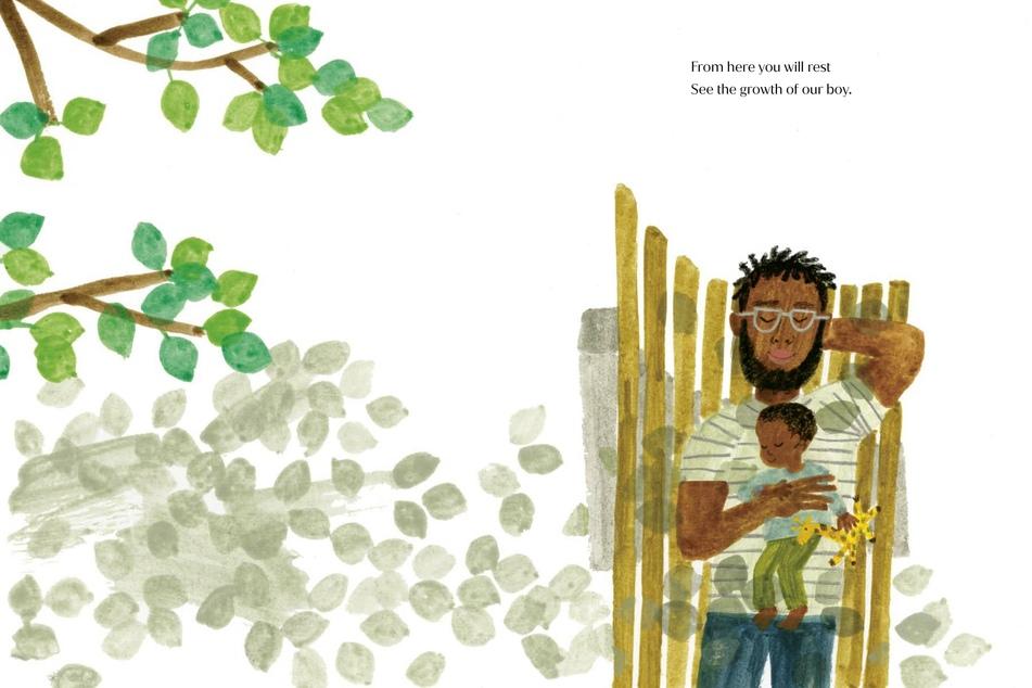Eine Seite des Kinderbuches von Meghan.