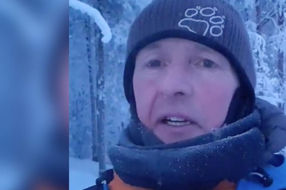Jens Weißflog friert bei minus 27 Grad in Finnland.