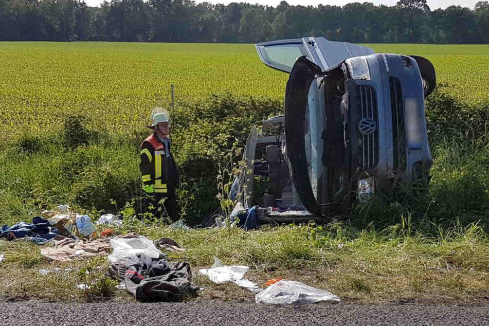 Eine Frau starb noch an der Unfallstelle.