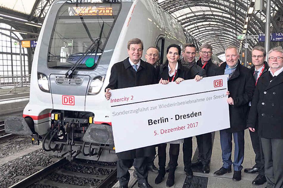 Berlin-Dresden: Hier feiern Dulig und die Bahn neun Minuten Zeitersparnis
