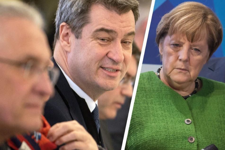 Wegen Coronavirus: Söder will Konjunkturpaket, Merkel streicht Treffen