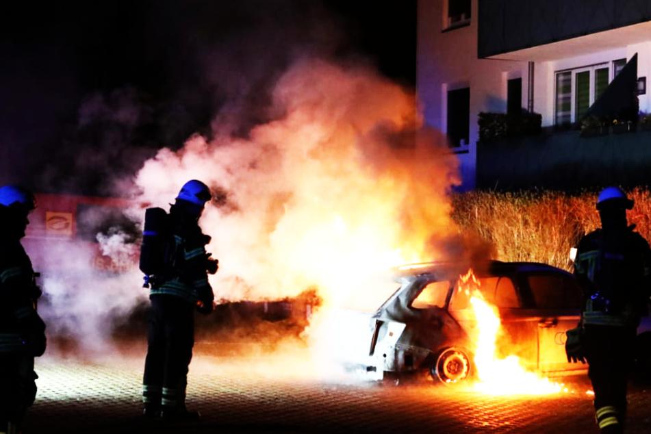 Firmenwagen im Leipziger Norden ausgebrannt