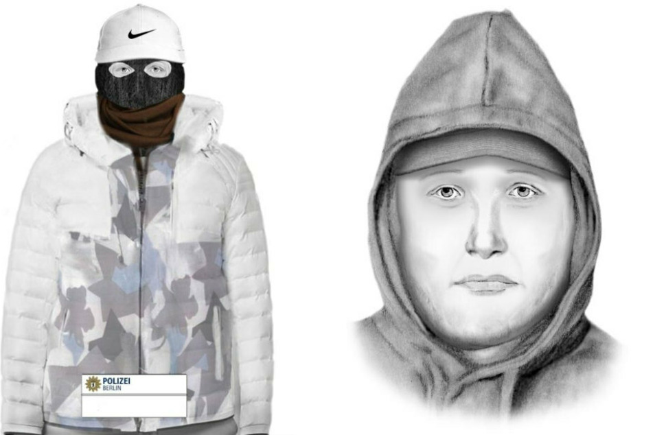 Mit diesen Phantombildern sucht die Polizei Berlin nach dem Tater.