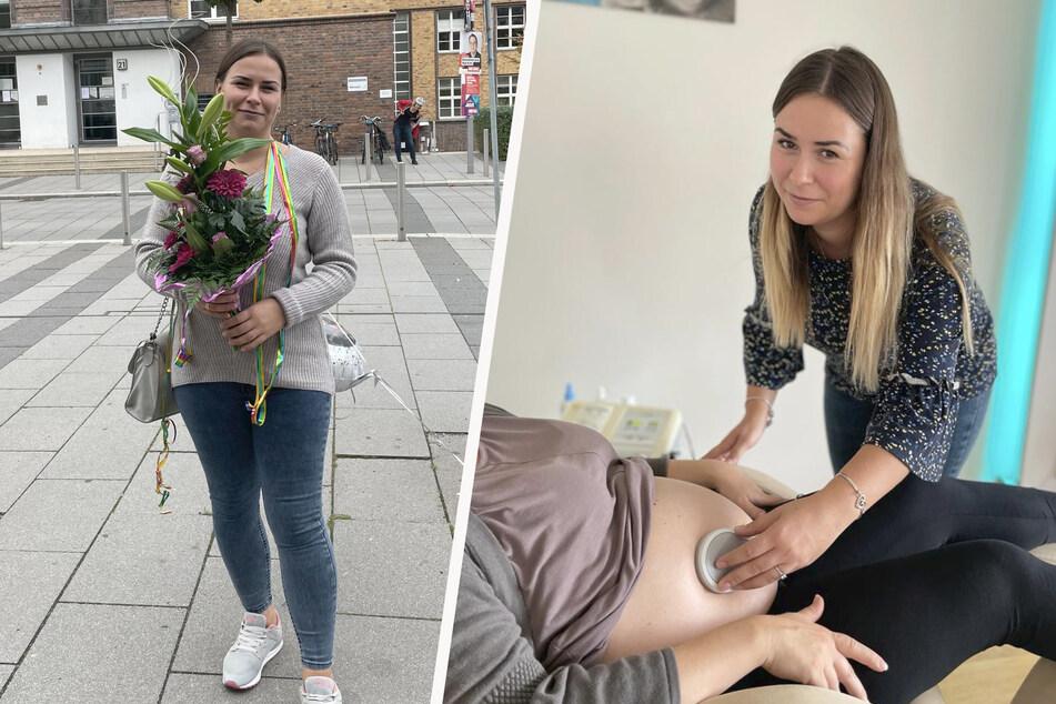 Mittlerweile ist Adelina zurück in Leipzig und hat auch bereits ihre Tätigkeit als Hebamme in der Praxis von Dagmar Röger aufgenommen.