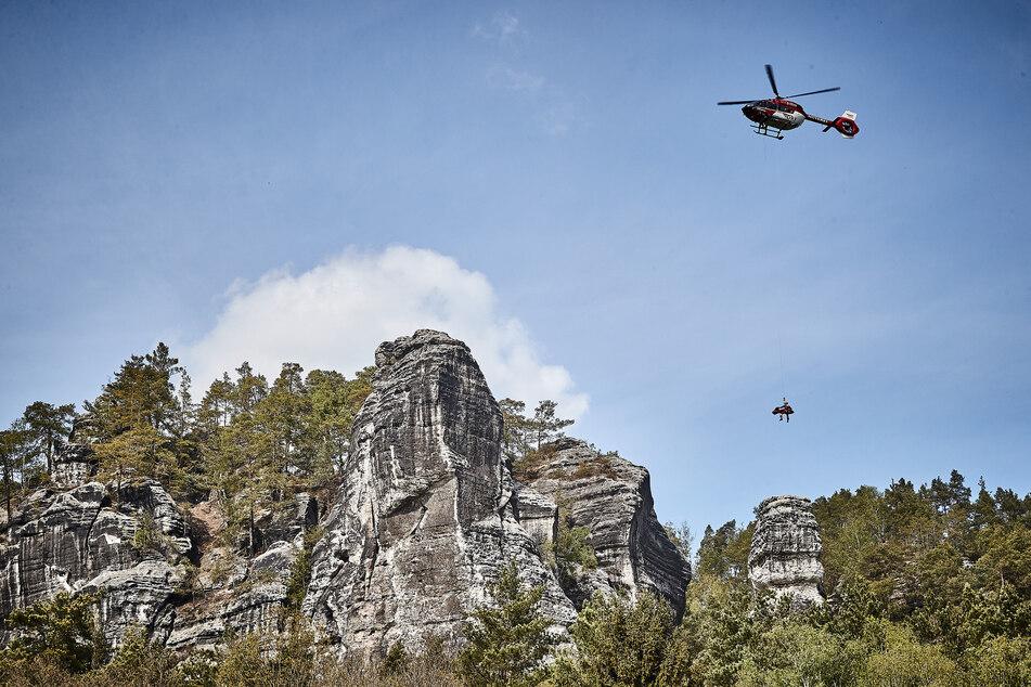 Kletterer stürzt in der Sächsischen Schweiz in die Tiefe