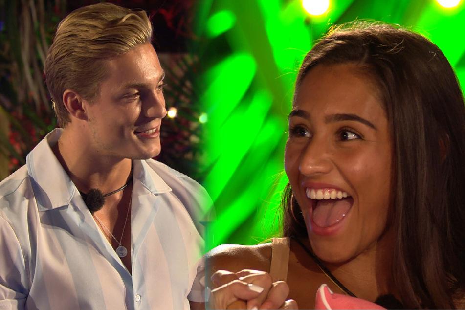 """Henrik und Aurelia freuen sich, dass sie die Nacht gemeinsam in der Private Suite auf """"Love Island"""" verbringen dürfen. (Fotomontage)"""