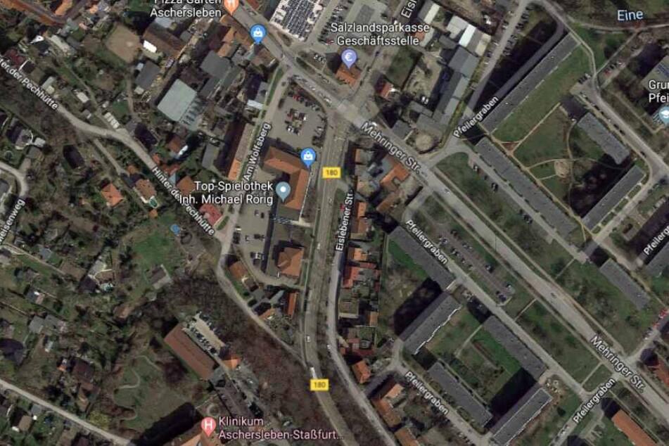 Der Brand ereignete sich an der Eislebener Straße.