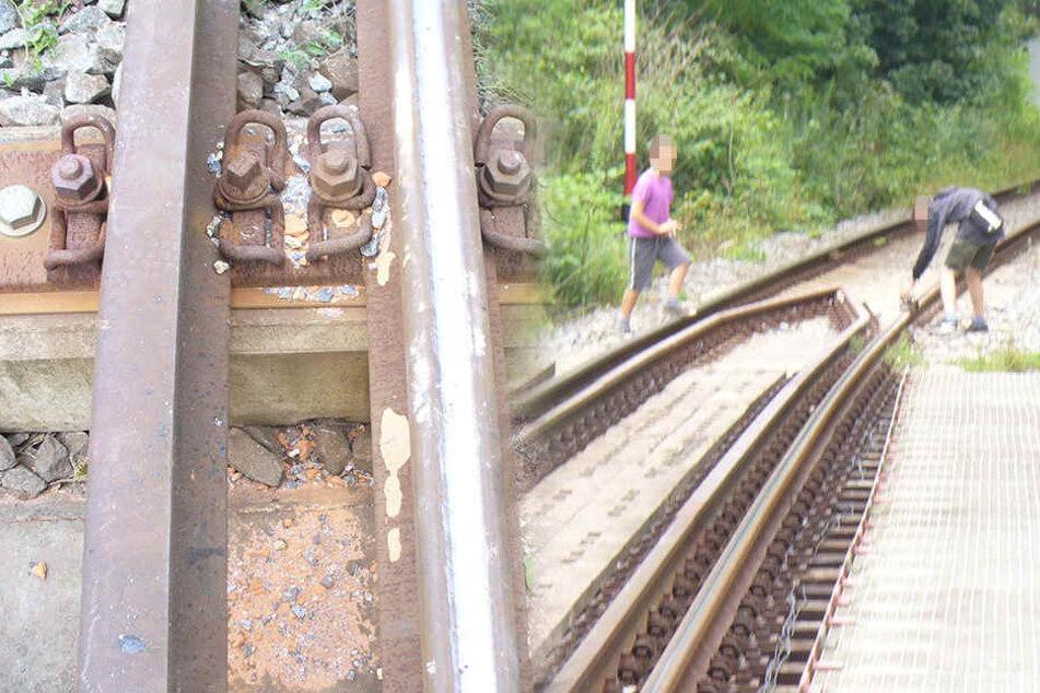Kinder legen Steine auf Bahngleise: Zug brettert drüber