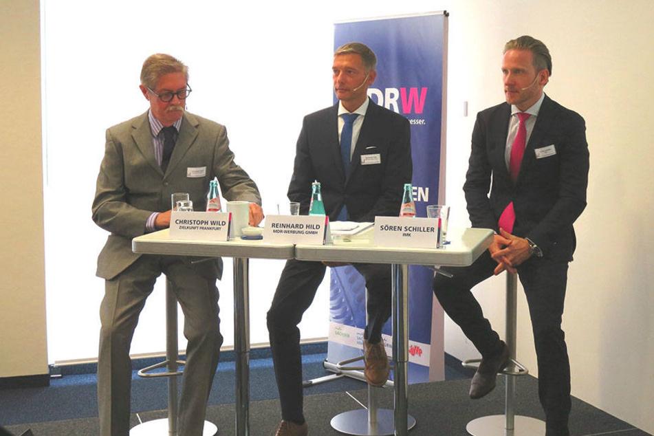 Stellten ihre Markenstudie am Donnerstag in Leipzig vor: Christoph Wild, Reinhard Hild und Sören Schiller (v.l.n.r.)