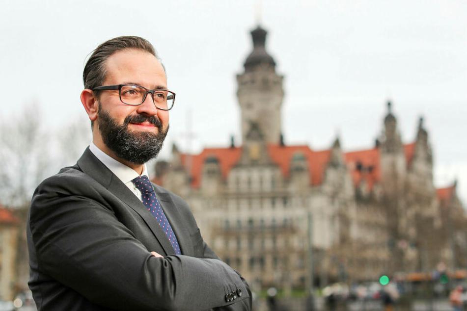 Sebastian Gemkow (41) will für die CDU das Leipziger Rathaus erobern. Seit der Wende ist es in SPD-Hand.