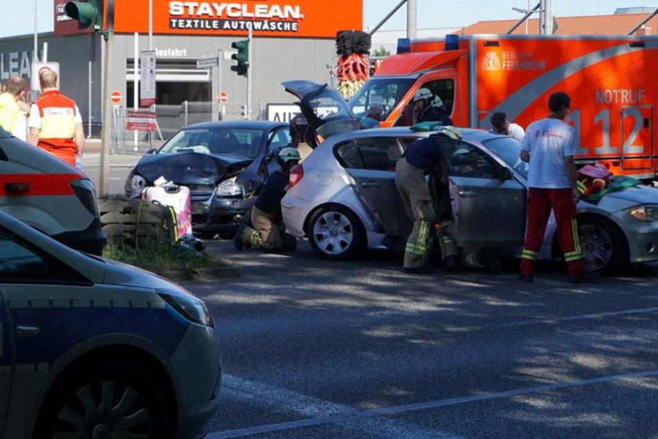 Der Opel war frontal in die Fahrerseite des BMWs geknallt.