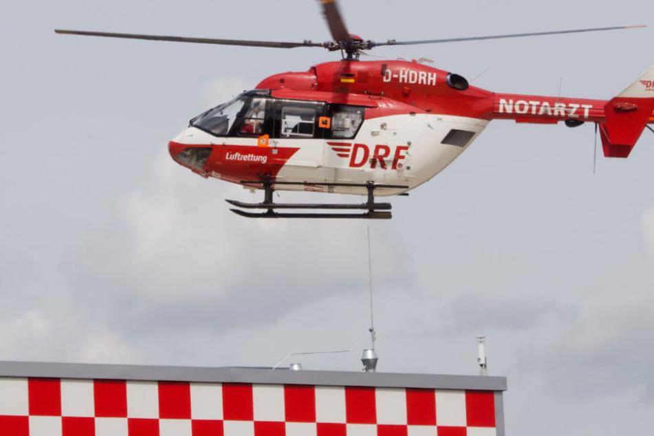 Mit einem Rettungshubschrauber wurde der Junge nach Frankfurt gebracht.