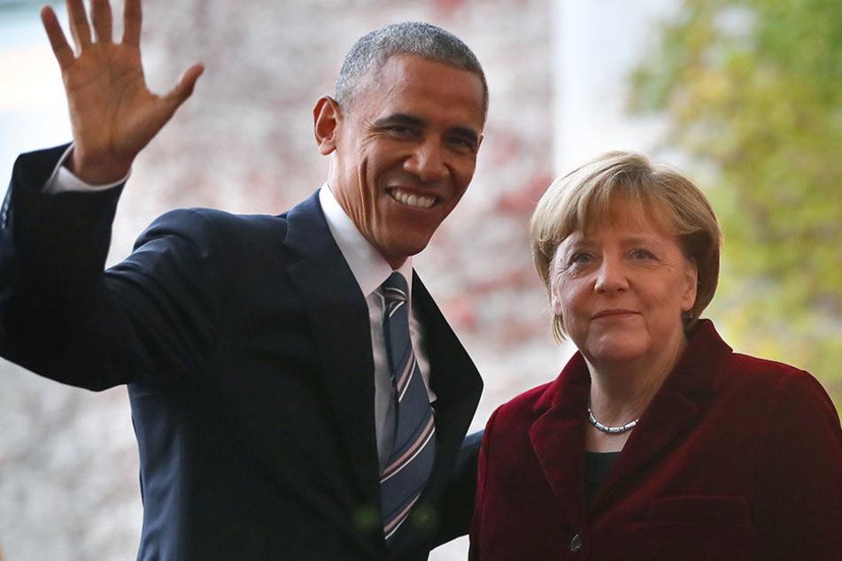 Werden am 25. Mai wieder gemeinsam vor die Kameras treten: Ex-US-Präsident Barack Obama und Bundeskanzlerin Angela Merkel.