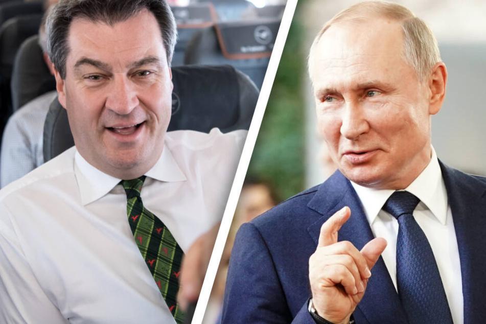 Zwischen Krisen und Sanktionen: Markus Söder trifft Wladimir Putin in Moskau