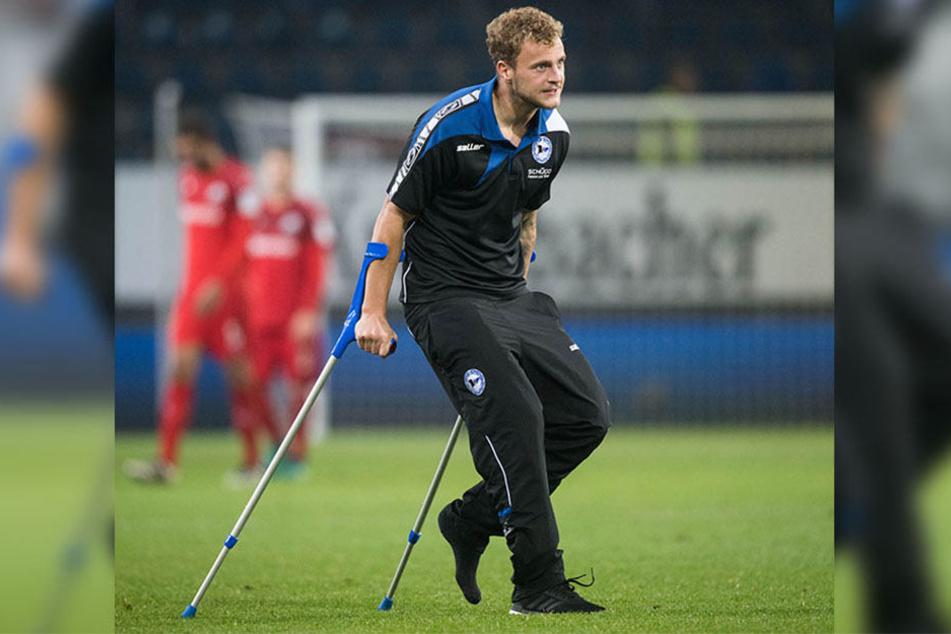 In den nächsten Wochen muss Arminia Bielefeld auf Christop Hemlein verzichten.