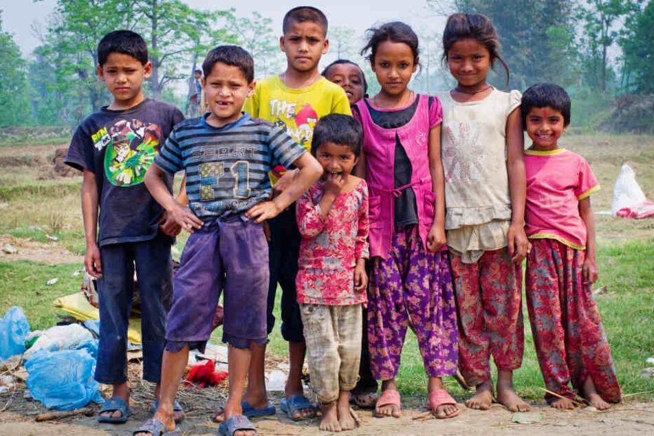 Straßenkinder in Nepal. (Archivbild)