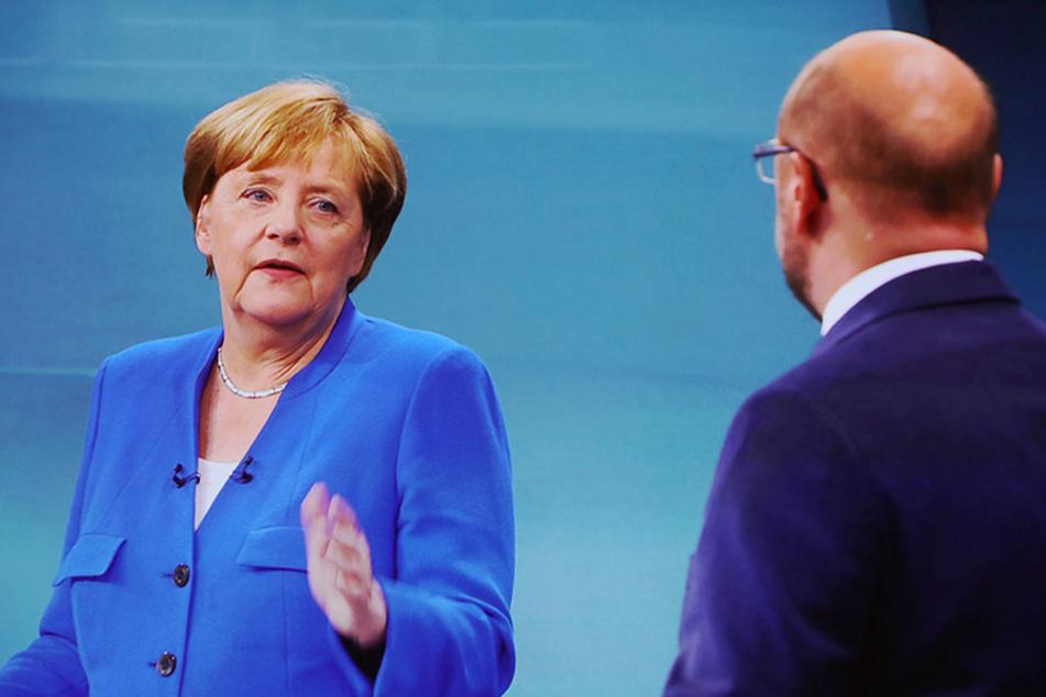 Wird es ein zweites TV-Duell geben? Angela Merkel lehnte dies bisher ab.