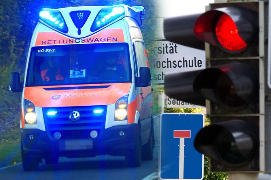 Rote Ampel missachtet: Fünf Verletzte