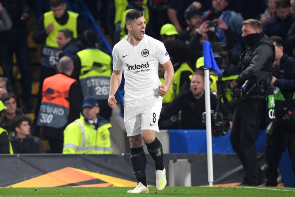 Luka Jovic von Eintracht Frankfurt könnte noch zum Top-Torjäger der Europa League werden.