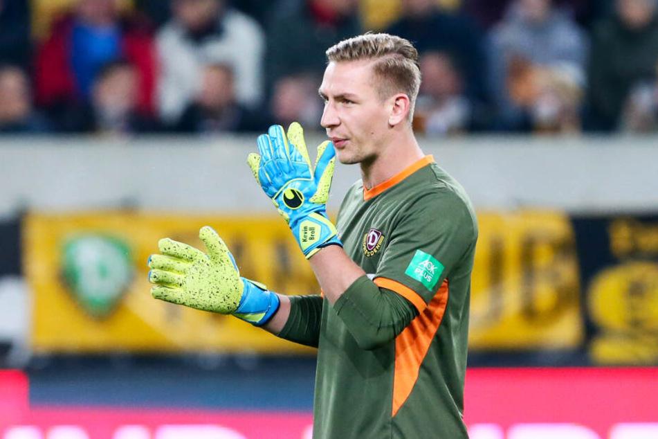 Kevin Broll kassierte mit Dynamo Dresden eine bittere Last-Minute-Pleite beim HSV. (Archivbild)
