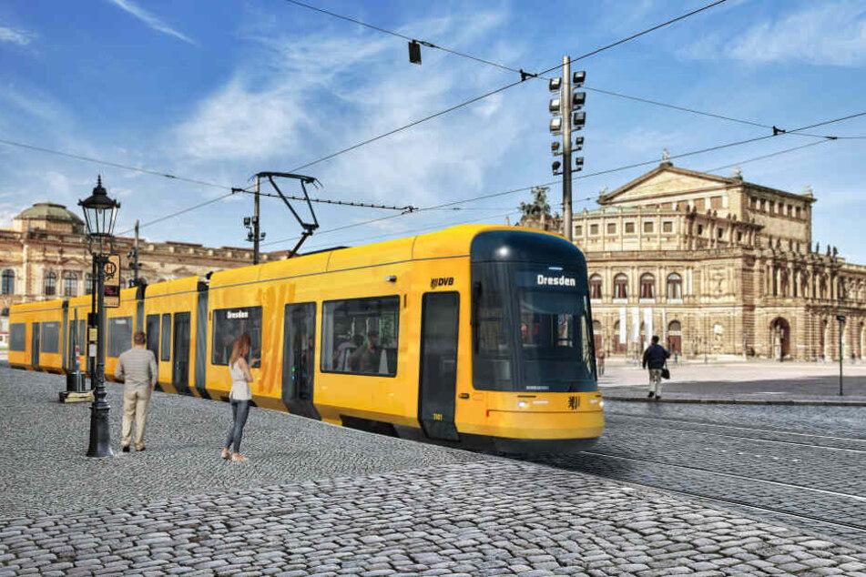 Die erste Stadtbahn rollt im Sommer 2021 durch Dresden. Bis 2023 sollen alle Fahrzeuge ausgeliefert sein.