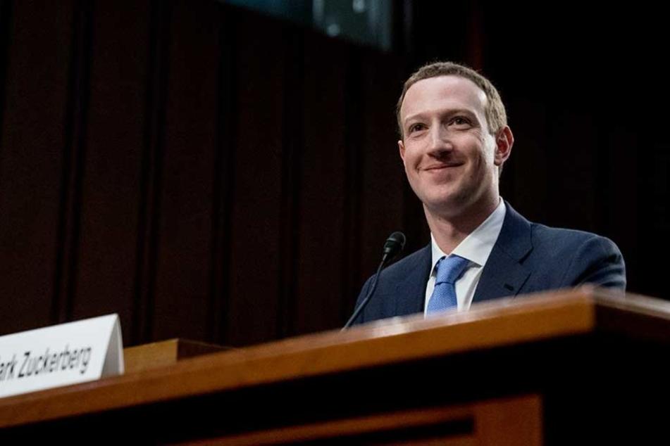 Mark Zuckerberg während der Anhörung im US-Kongress.