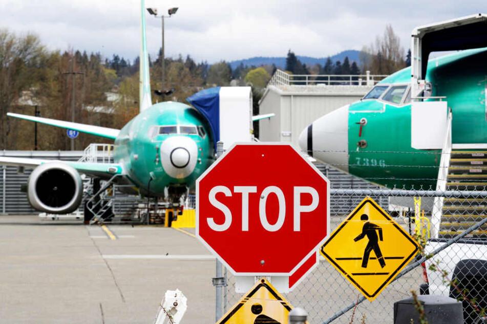 Die 737 Max bleibt vorerst noch am Boden der Boeing-Werke (Symbolbild).