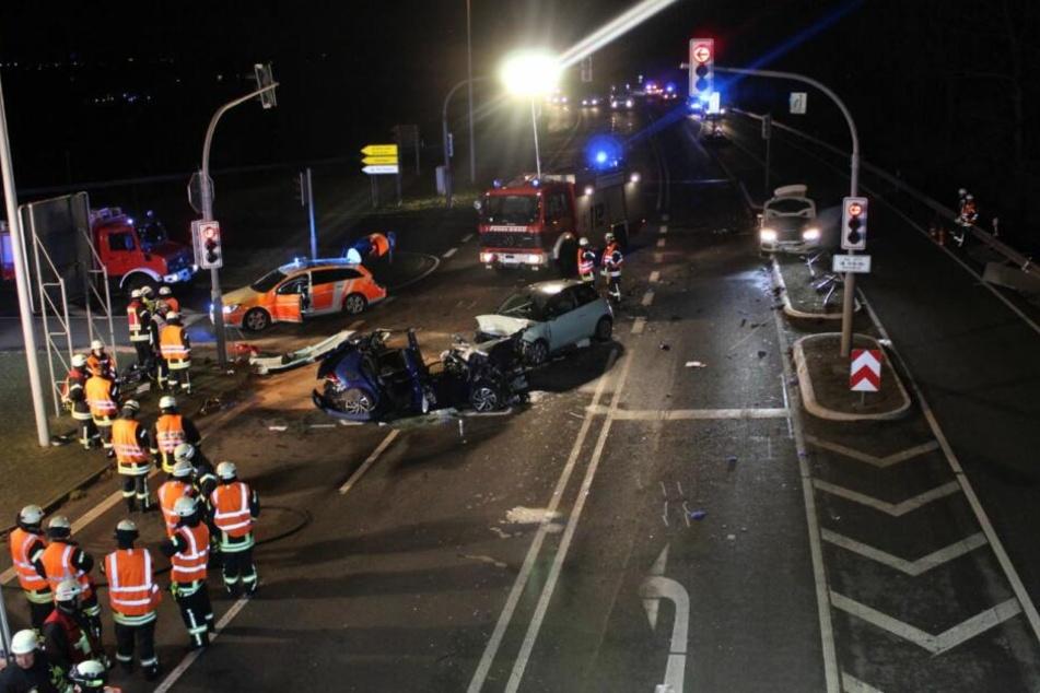 Ein Foto der Polizei Aachen von der Unfallstelle aus dem Januar 2019.