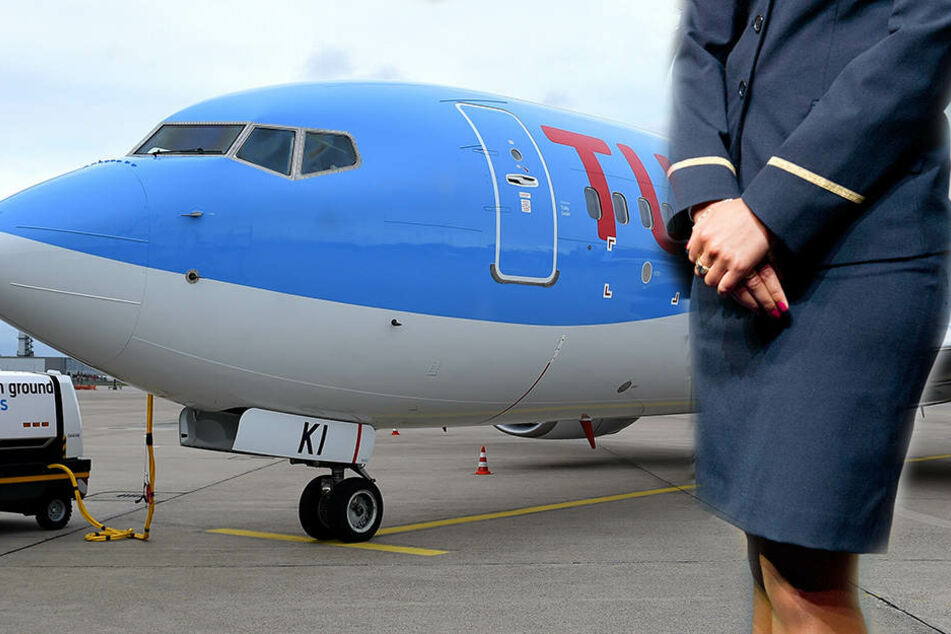 """Die Stewardess musste in einer Maschine von """"TuiFly"""" den Co-Piloten ersetzen."""