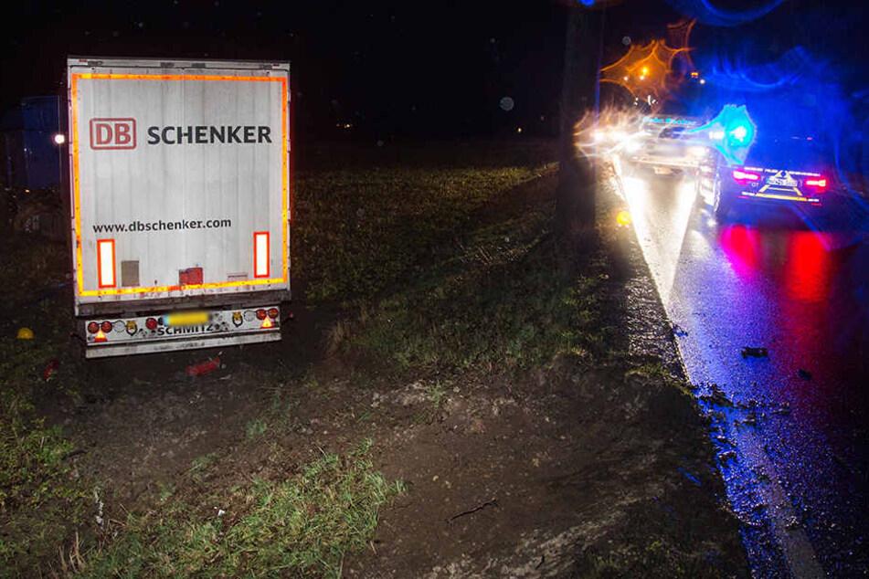 Die Polizei Gütersloh sicherte die Unfallstelle ab.