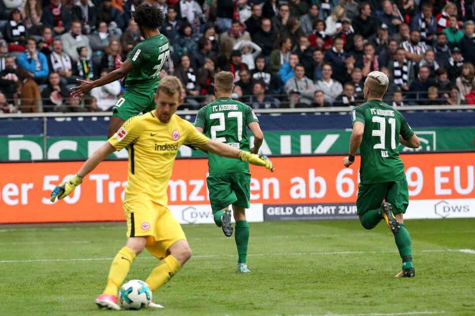 Lukas Hradecky und die Eintracht haben auch im zweiten Heimspiel das Nachsehen.