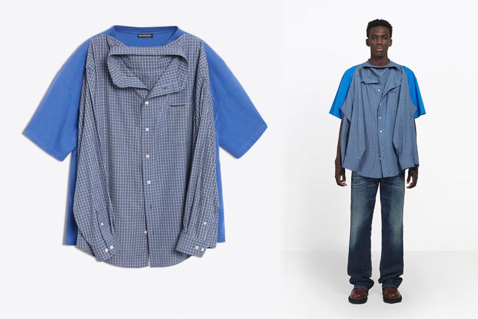Doppelt hält besser: Hier muss der Mann sich nicht entscheiden, ob er Hemd oder T-Shirt tragen will.