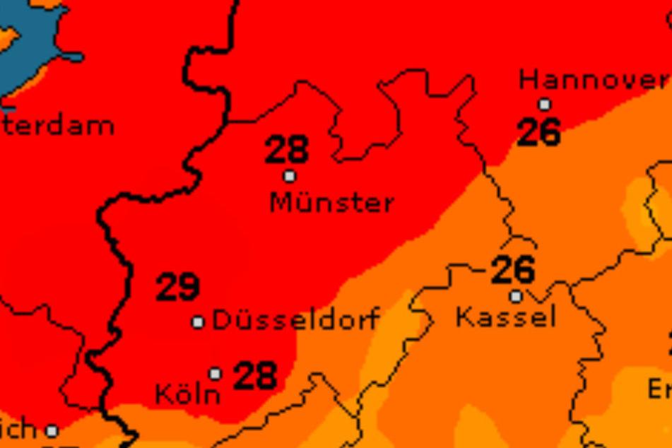 Am Montag wird es bis zu 28 Grad heiß.