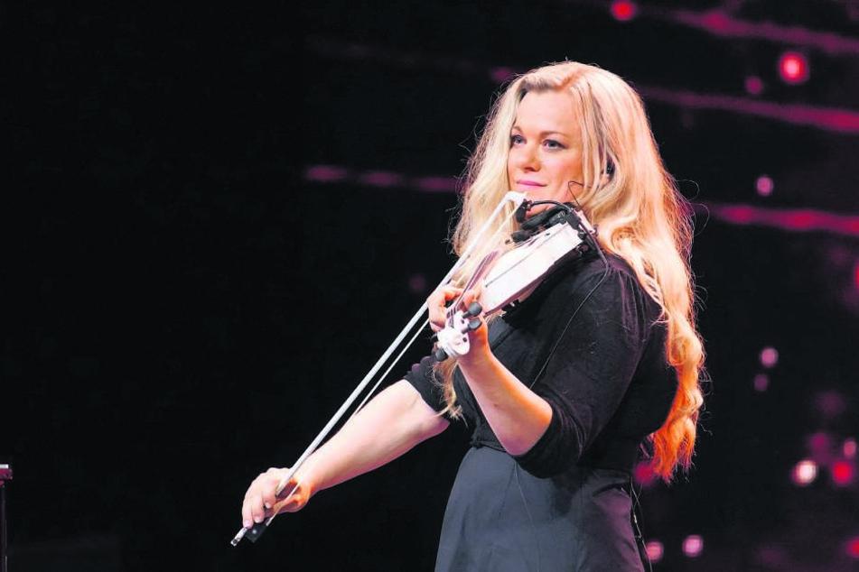 """Musikerin Katrin Wettin (44) wird Dieter Bohlen in der RTL-Show """"Das Supertalent"""" was geigen."""