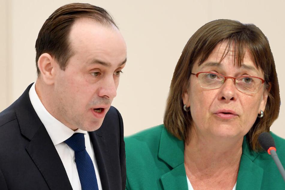 Koalition eher mit CDU als SPD? Grüne loben Zusammenarbeit mit Senftleben-Partei