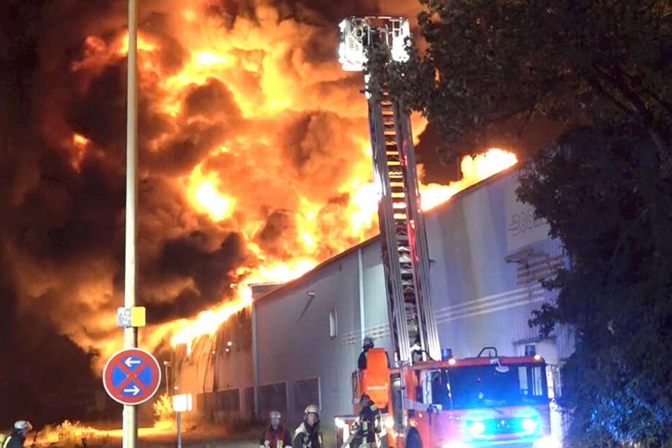 Die Feuerwehr versucht alles um das Feuer unter Kontrolle zu bekommen.