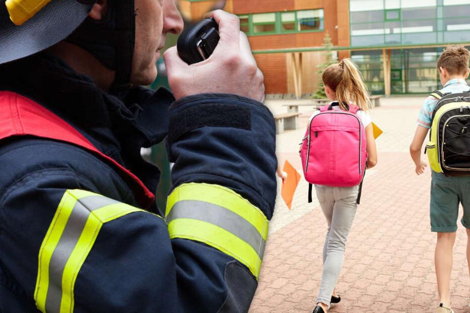Aula komplett ausgebrannt: Feuer an Otto-Hahn-Schule in Hanau