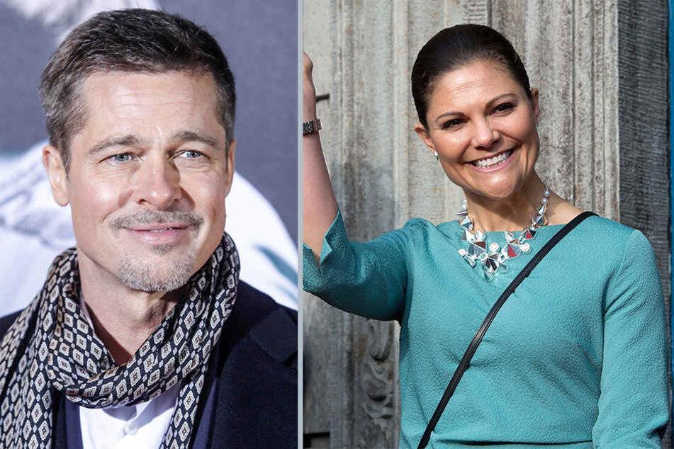 Manchmal trifft's auch Promis: Brad Pitt (53) und die schwedische Kronprinzessin Victoria leiden unter Gesichtsblindheit.