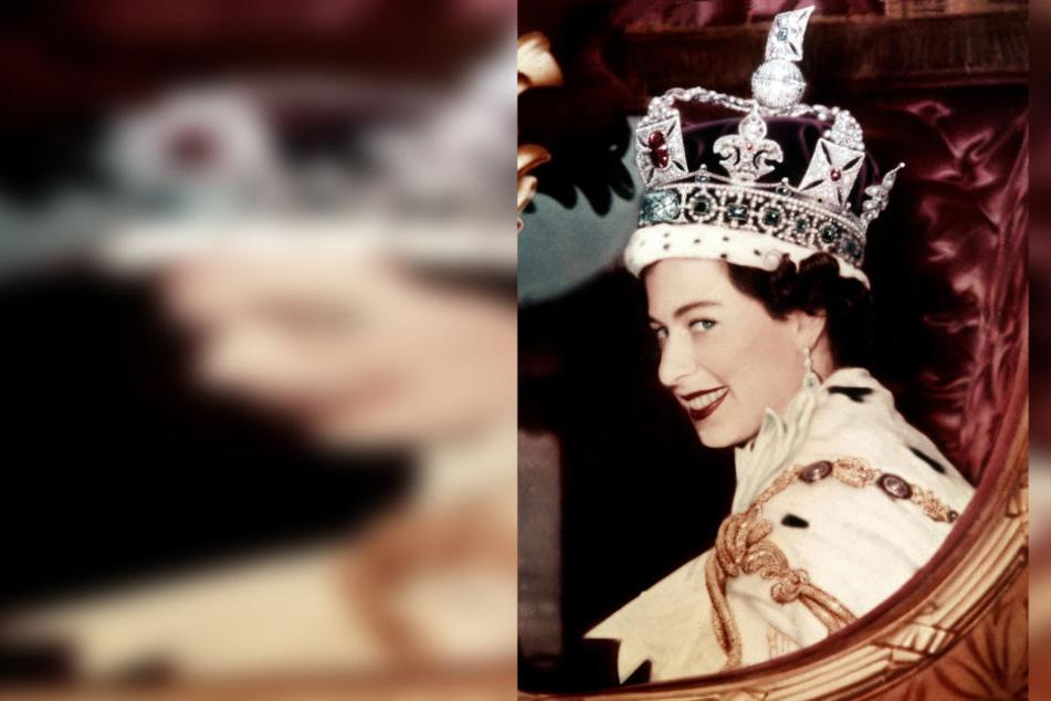 Ein Blick für die Ewigkeit. Nach ihrer Krönung am 2. Juni 1953 blickt Queen  Elizabeth II. auf ihrer Kutsche aufs Volk.