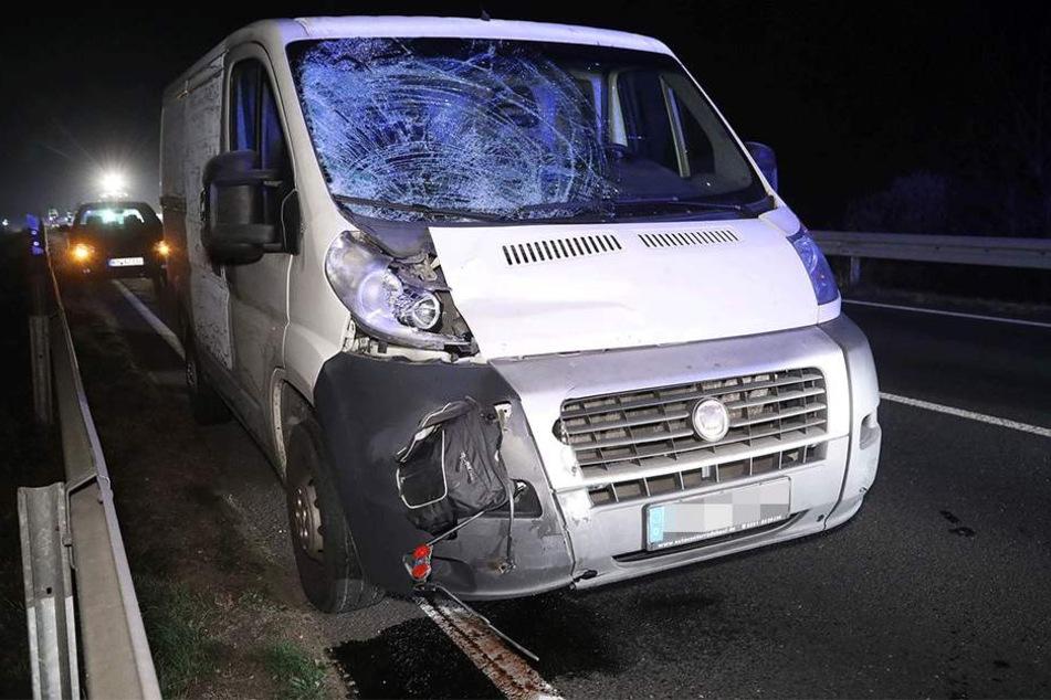Der Fiat nach dem tödlichen Zusammenstoß.