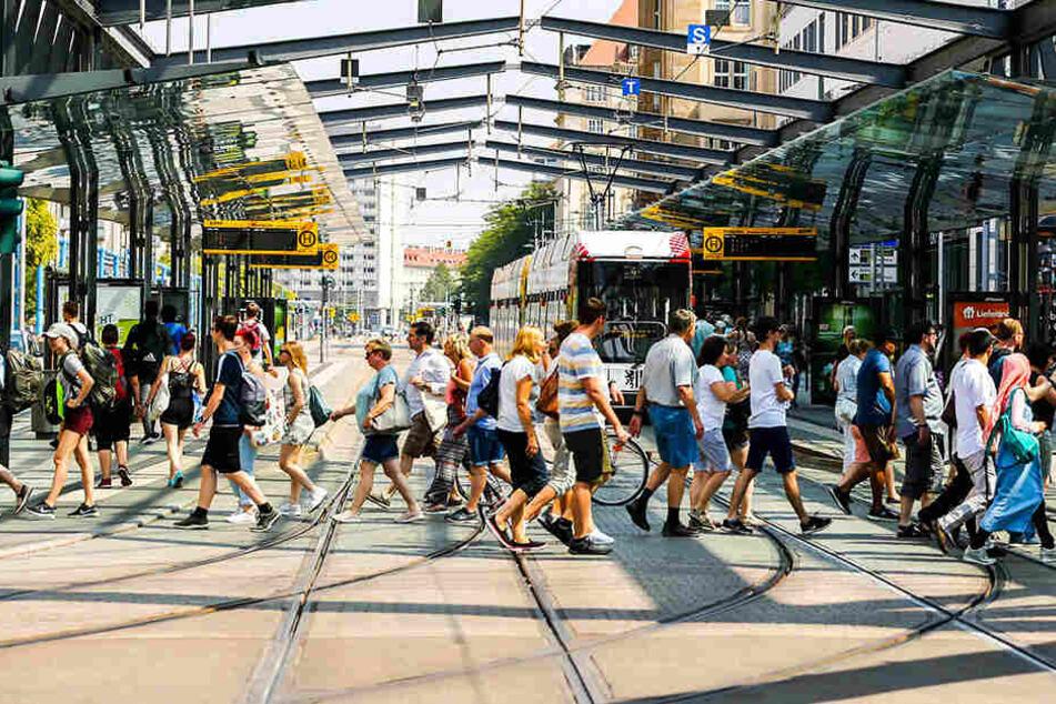 Umleitungen in Dresden: Wilsdruffer Straße wird für Bahnen gesperrt