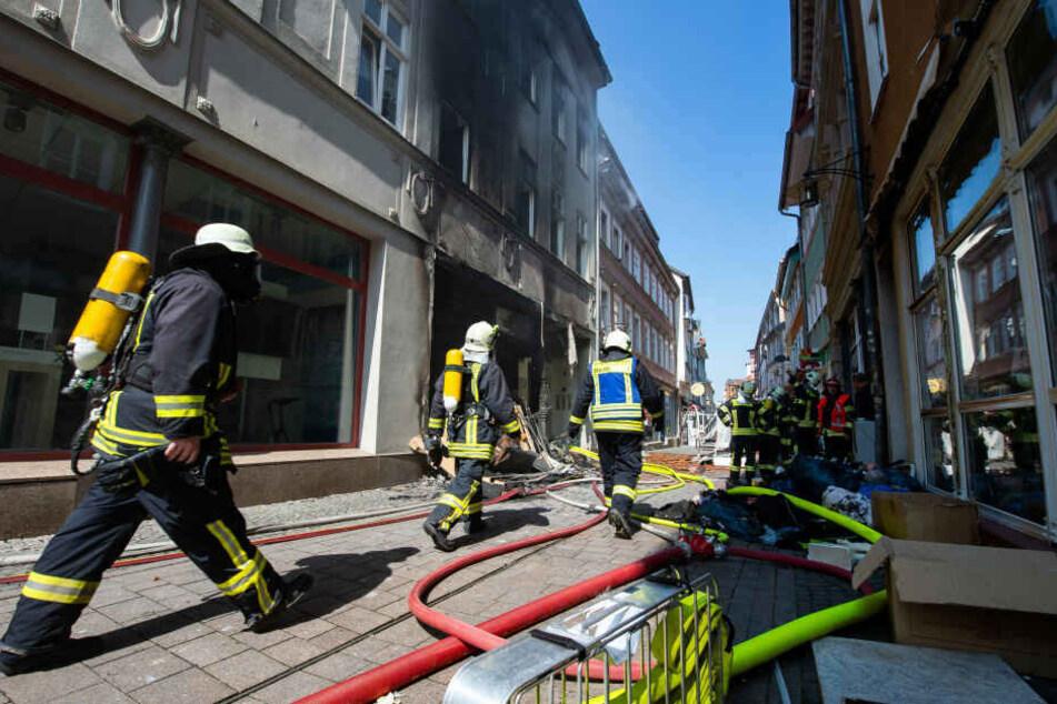 Schwerer Brand in Eisenach: Häuser nicht mehr bewohnbar